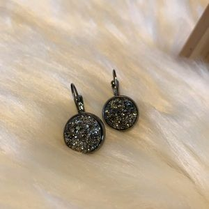 Hematite Druzy Earrings